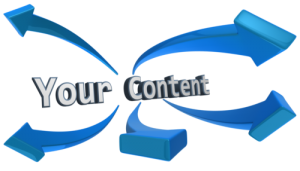 Your Content words and arrows
