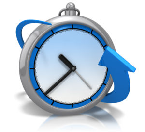 bend around time-clock- time management
